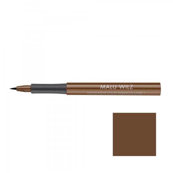 Malu Wilz Longwear Liquid Eyebrow Liner Nr. 01 pure pecan
